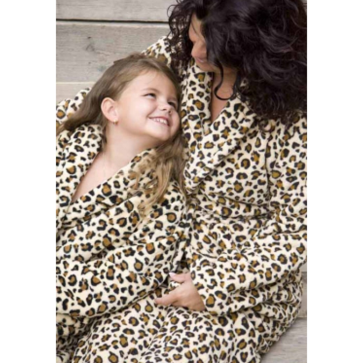 Kinderbademantel Leopardenprint