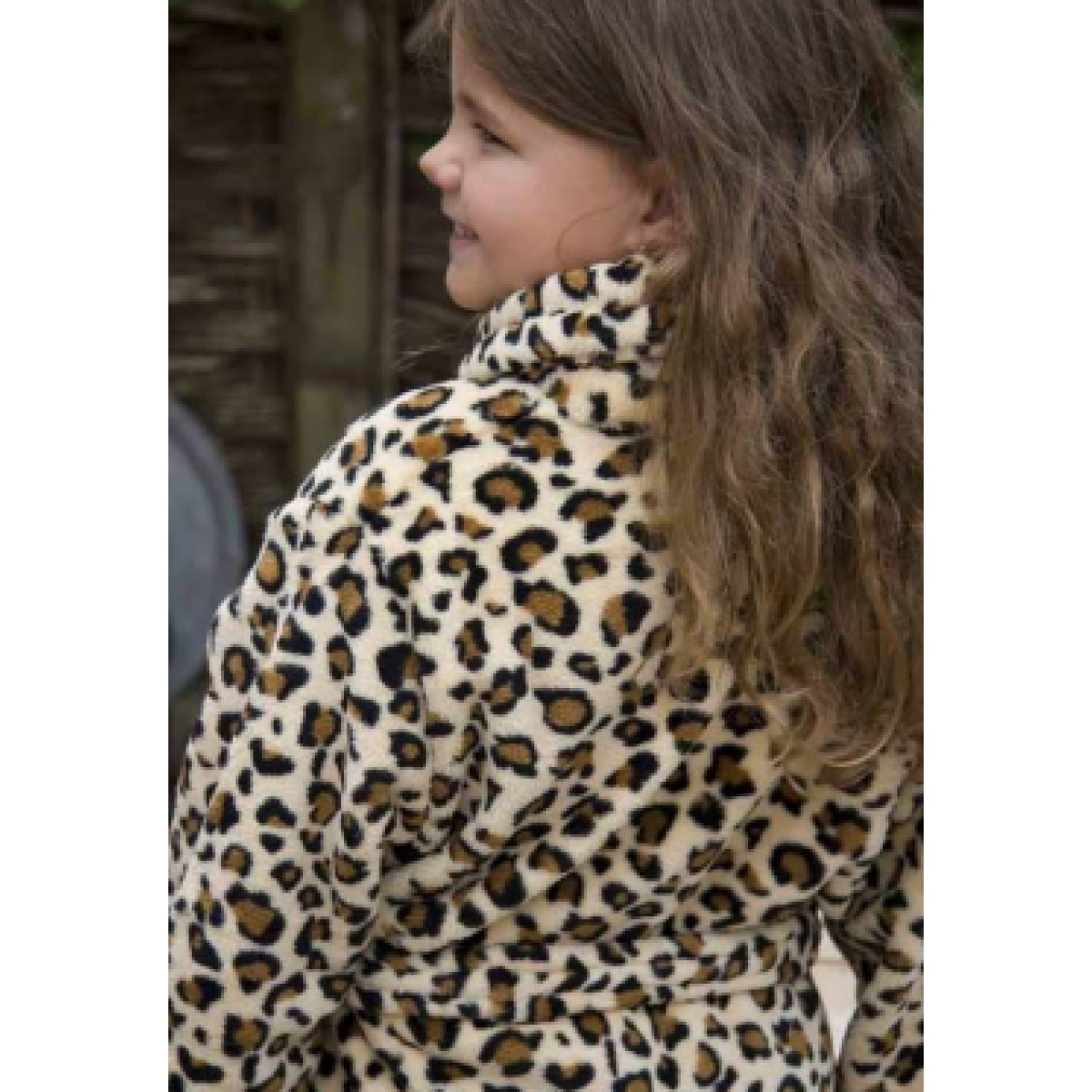 Kinderbademantel mit Leopardenprint