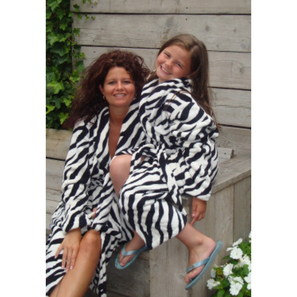 Zebra fleece Bademantel