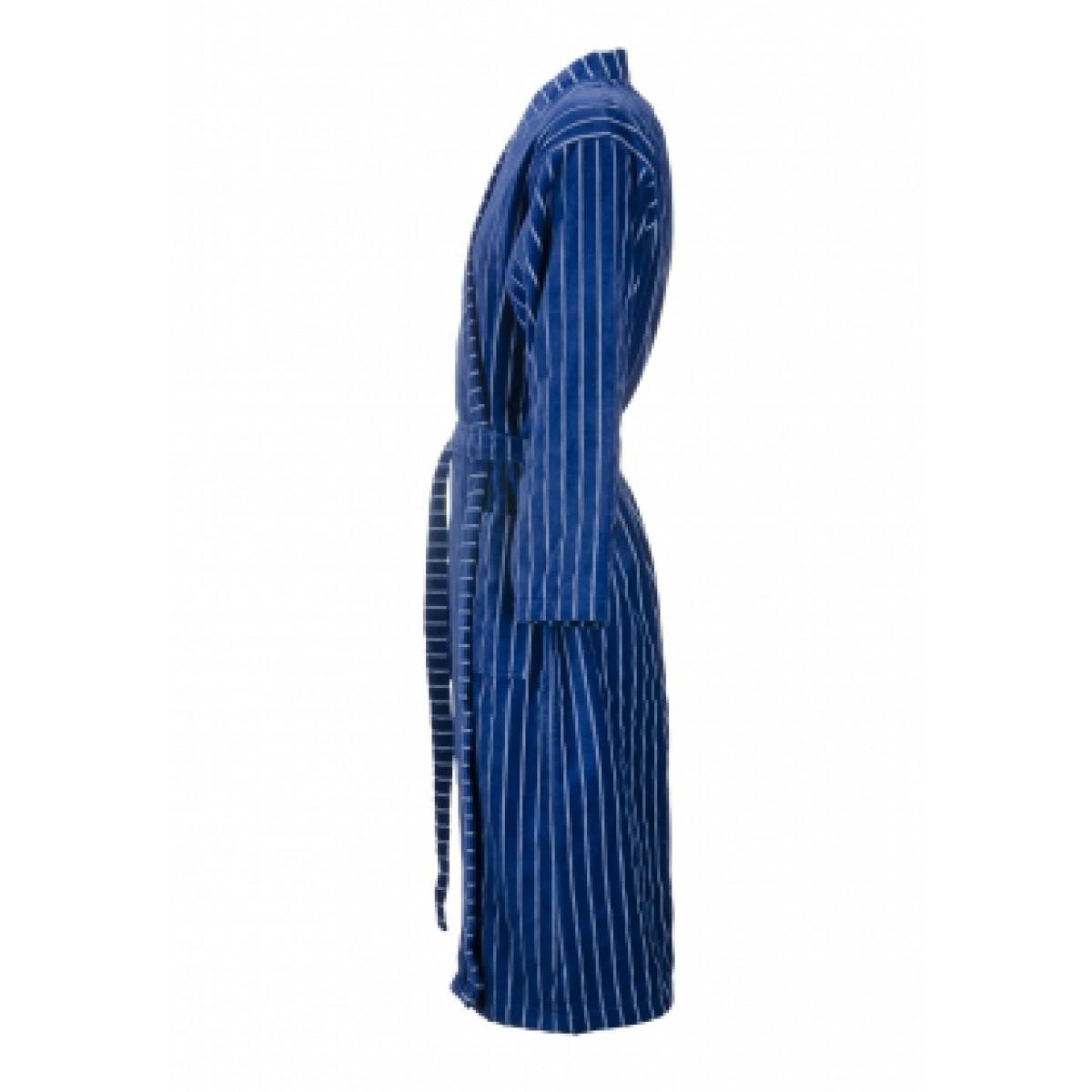 Blauer Kimonobademantel