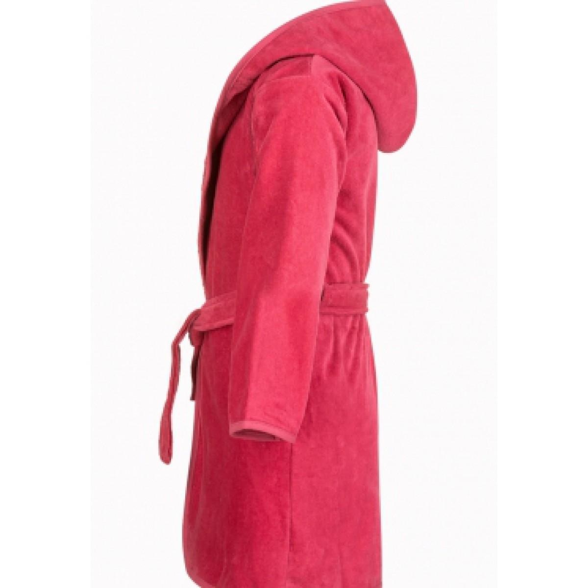 Velours Kinderbademantel rosa