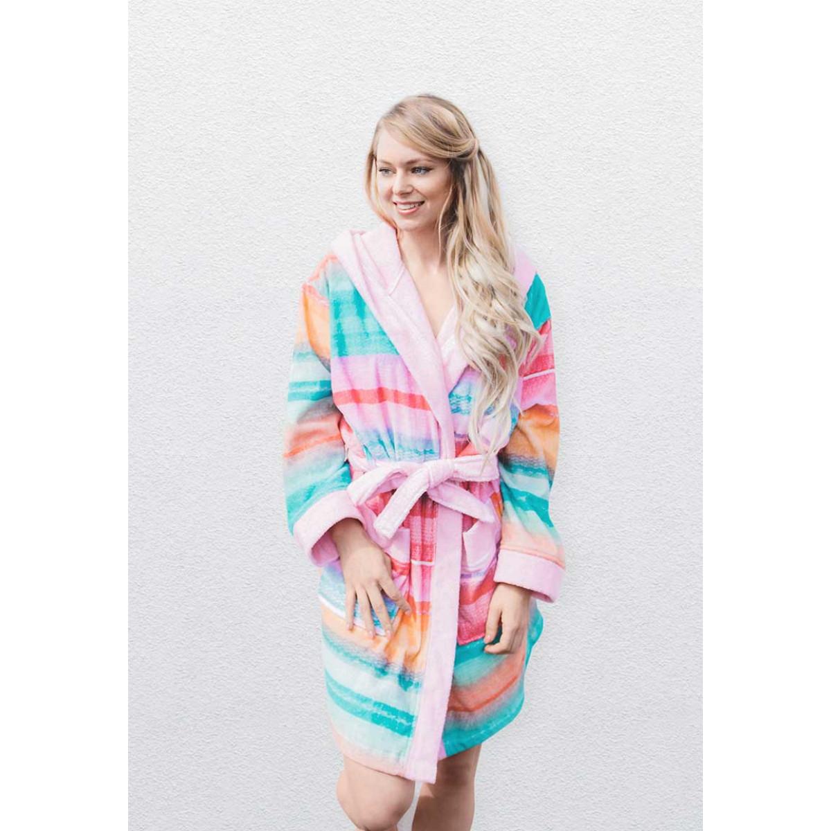 Damenbademantel Pastellfarben