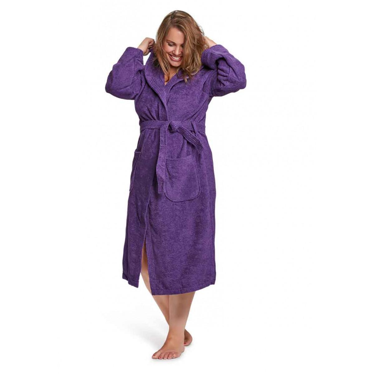 Saunabademantel Violett