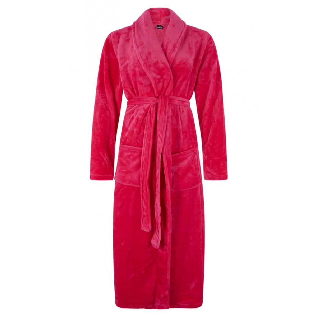 Rosa Damenbademantel