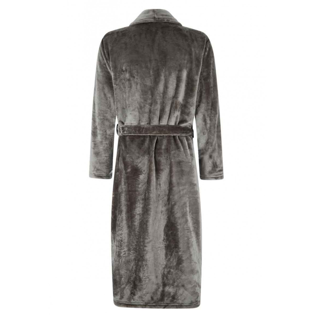 Fleece Bademantel Grau Herren