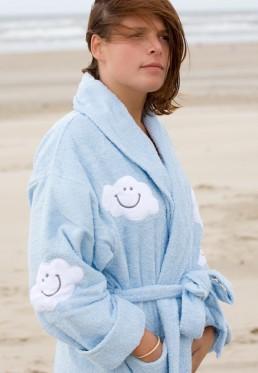 Damenbademantel mit wolken