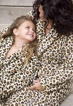 Kinderbademantel Leopardenprint