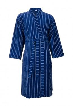 Blauer Kimonobademantel Herren