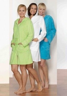 Damenbademantel mit Reißverschluss