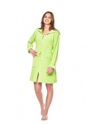 Grüne Damenbademäntel mit Reißverschluss