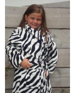 Kinderbademantel Zebra