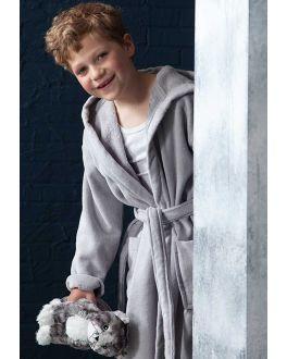 Grauen Kinderbademantel