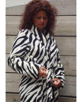 Damenbademantel Zebra