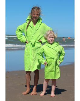 Kinderbademantel hellgrün