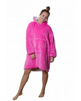 Snuggie Fleece mit Hoodie - rosa