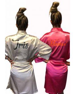 Satin-Kimono personalisieren mit Aufdruck