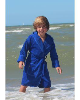 Kobaltblauer Kinderbademantel