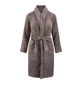 Kinderbademantel Taupe Fleece