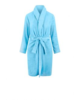 Kinderbademantel Hellblau Fleece