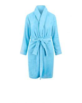 Kinderbademantel Hellblau Fleece