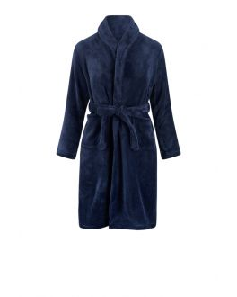 Kinderbademantel Marineblau Fleece