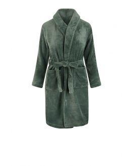 Kinderbademantel Grün Fleece