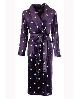 elegante lilafarbene Damenbademantel
