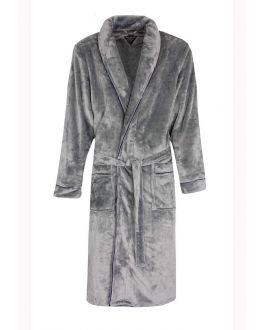 Grauer Herrenbademantel aus fleece