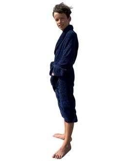 Kinderbademantel Marineblau Fleece