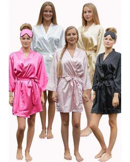 Kimono Satin-Look – 5 Farben