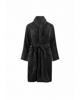 kinderbadjas schwarz fleece
